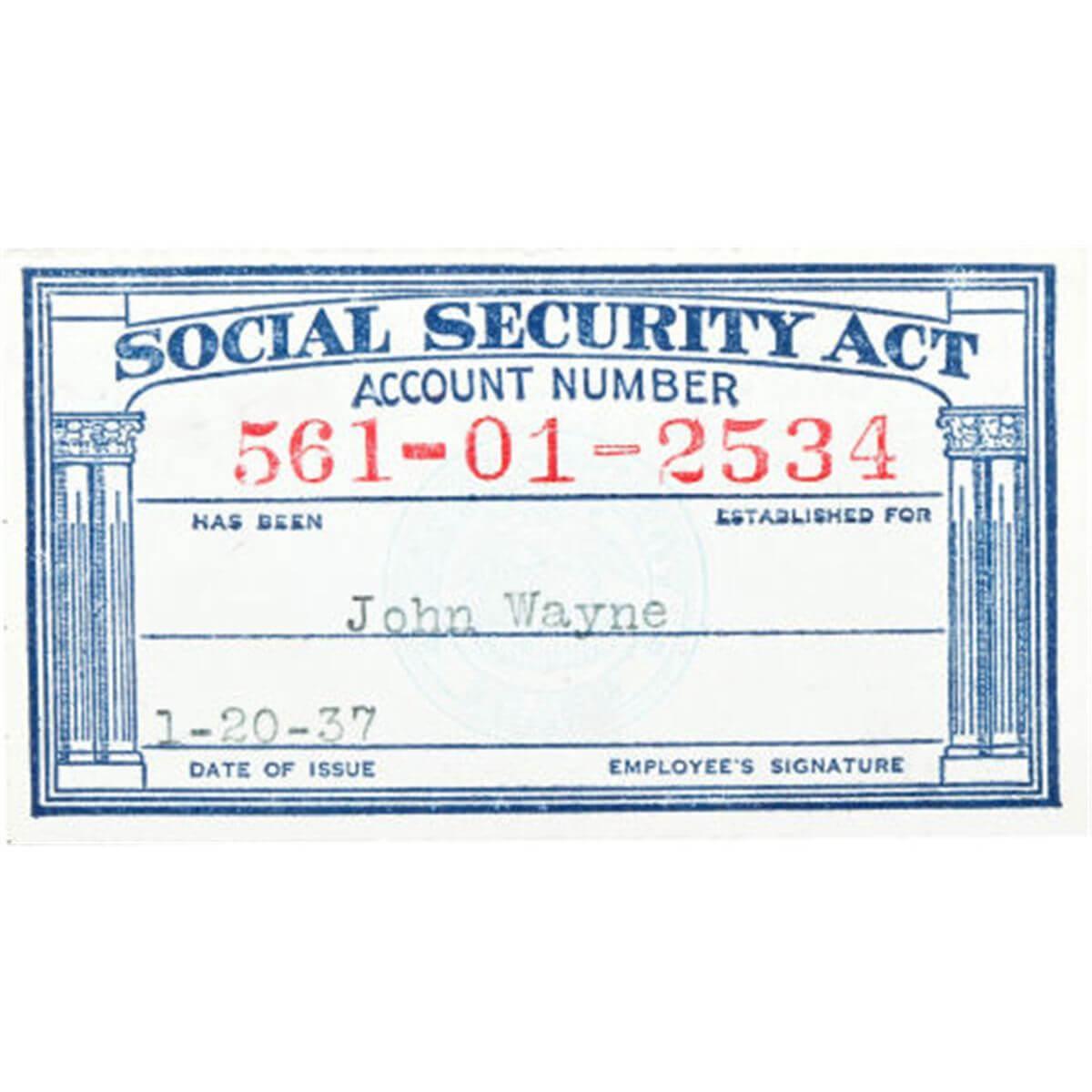 Social Security Card Templates. Social Security Template throughout Ss Card Template