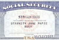 Social+Security+Card+Blank   General   Social Security pertaining to Editable Social Security Card Template