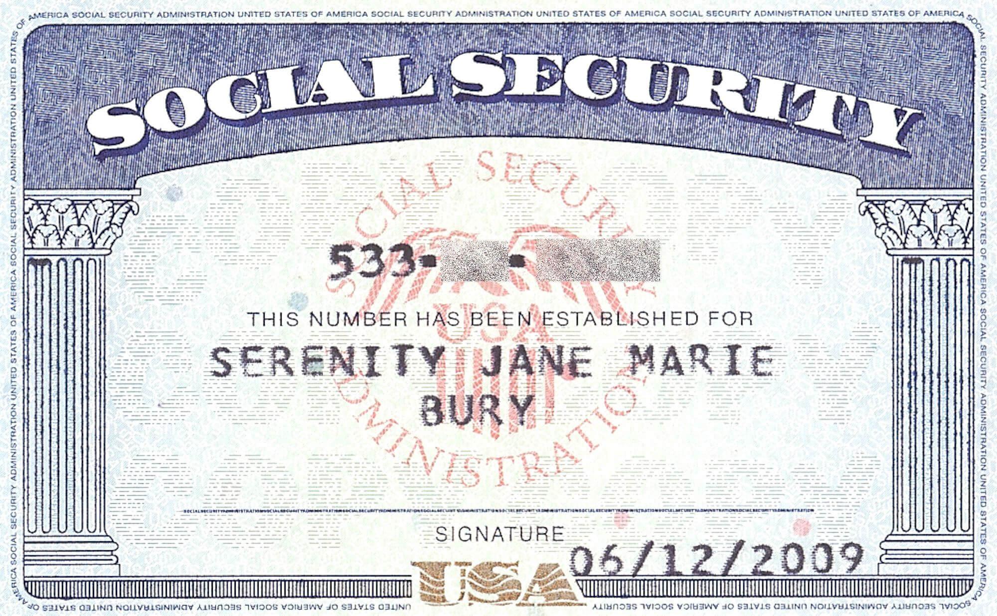 Social+Security+Card+Blank | General | Social Security pertaining to Editable Social Security Card Template