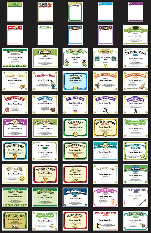 Softball Certificates - Free Award Certificates inside Free Softball Certificate Templates