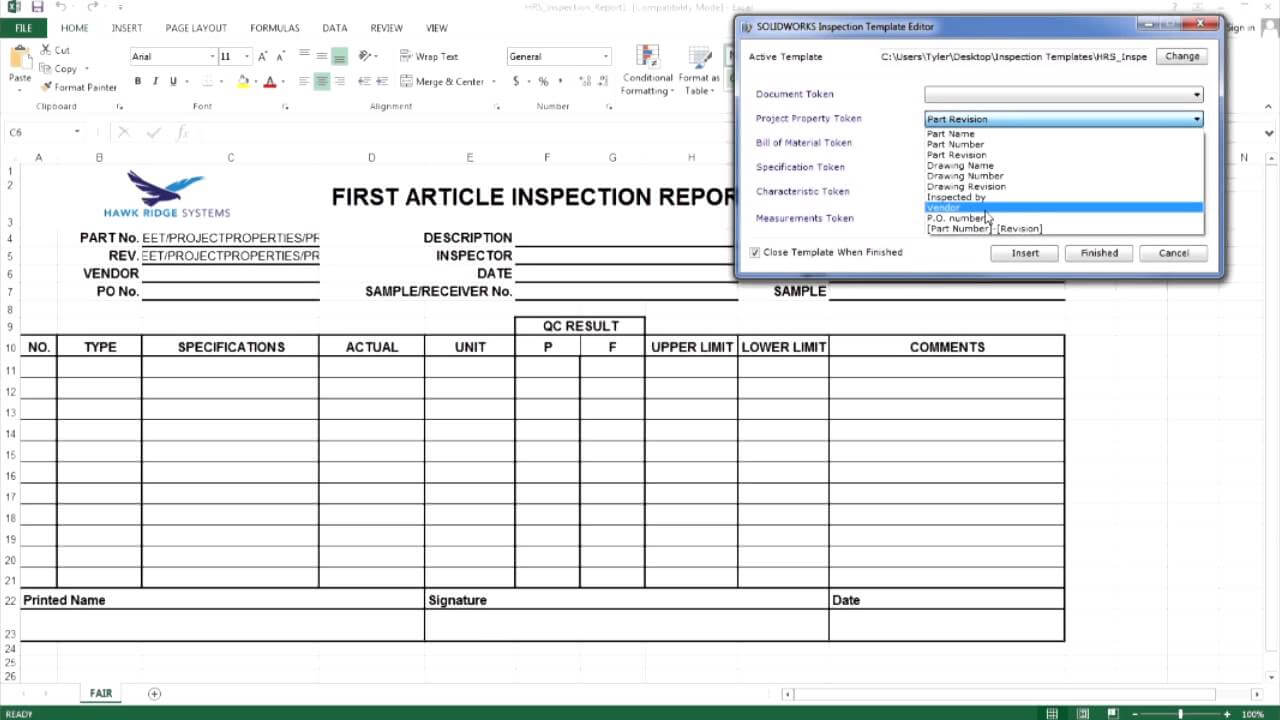 Solidworks Inspection - Creating A Custom Report Template [Pt. 1] pertaining to Fea Report Template