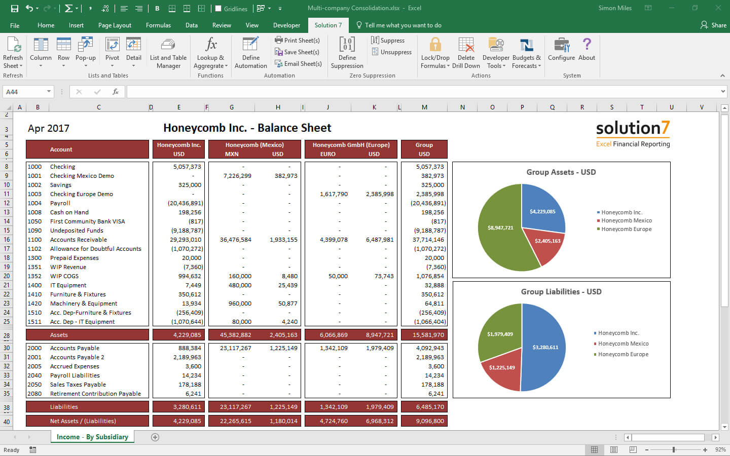 Solution 7 Excel Financial Reporting & Planning For Netsuite with Financial Reporting Templates In Excel
