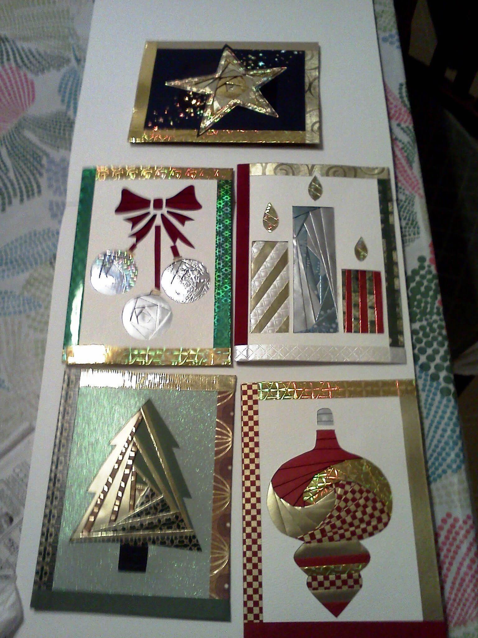 Some Of My Iris Fold Cards For Christmas | Iris Folding with Iris Folding Christmas Cards Templates