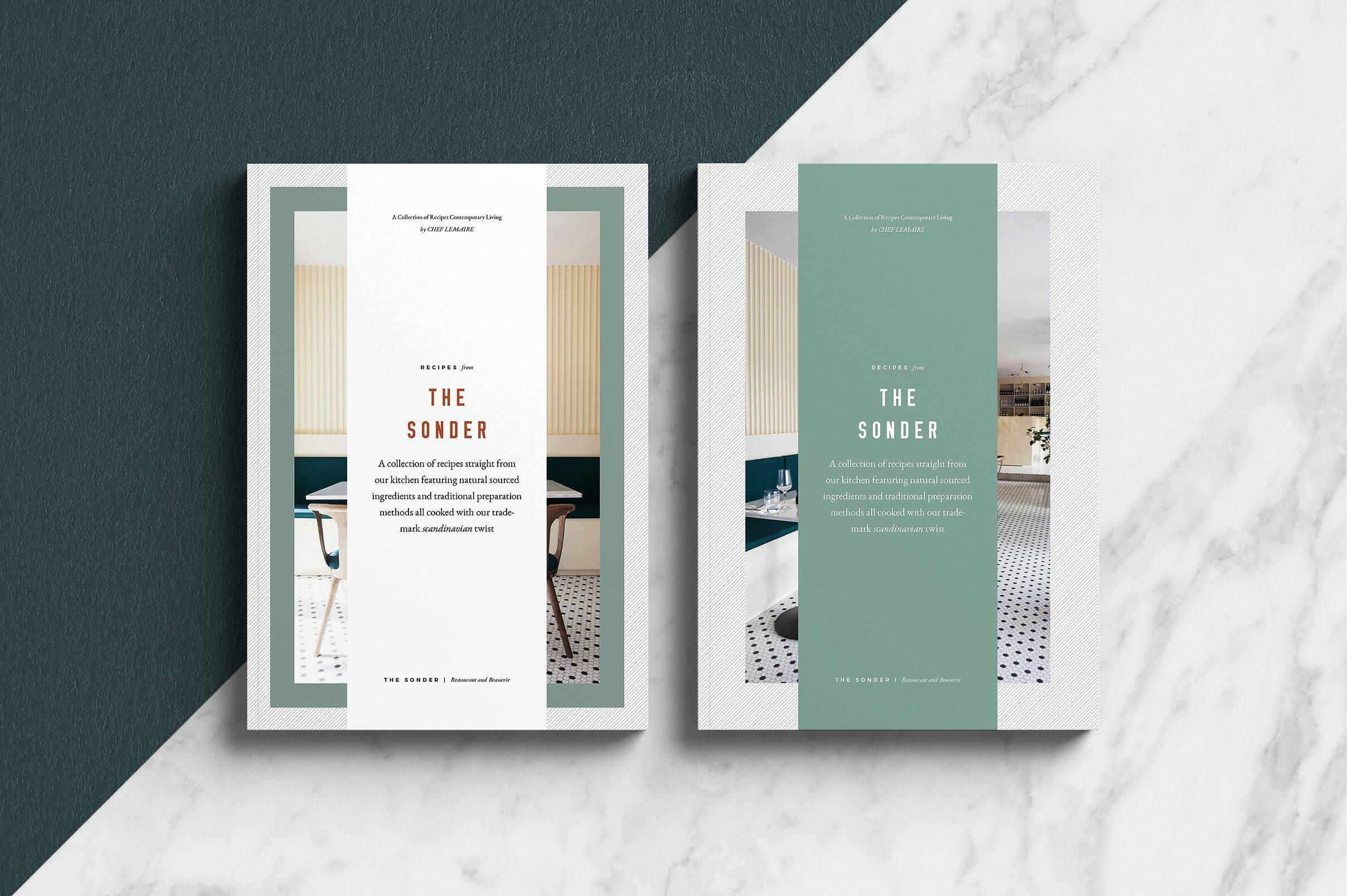 Sonder - Cookbook/recipe Book/brochure Template. A 30 Page in Pop Up Brochure Template