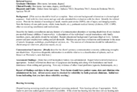 Speech And Language Initial Evaluation [Template] pertaining to Speech And Language Report Template