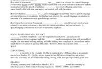 Speech-Evaluation-Report-Template-21 with regard to Speech And Language Report Template