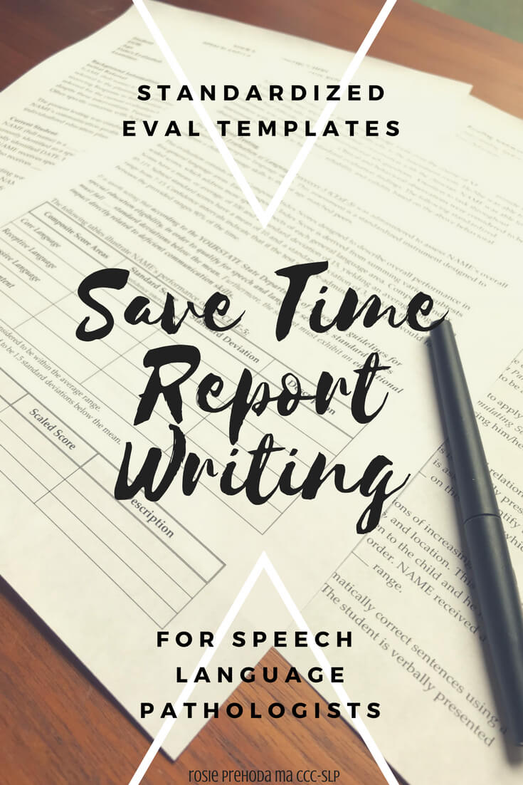 Speech & Language Standardized Evaluation Report Template pertaining to Speech And Language Report Template