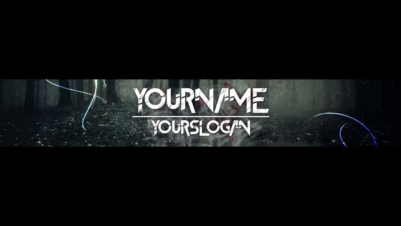 [Speedart] Youtube Banner / Channel Art Template – [Gimp And Photoshop] +  Download [Horror Style] With Regard To Youtube Banner Template Gimp