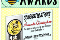Spelling Bee Awards ~ Fillable | Best Of Tpt | Spelling Bee inside Spelling Bee Award Certificate Template