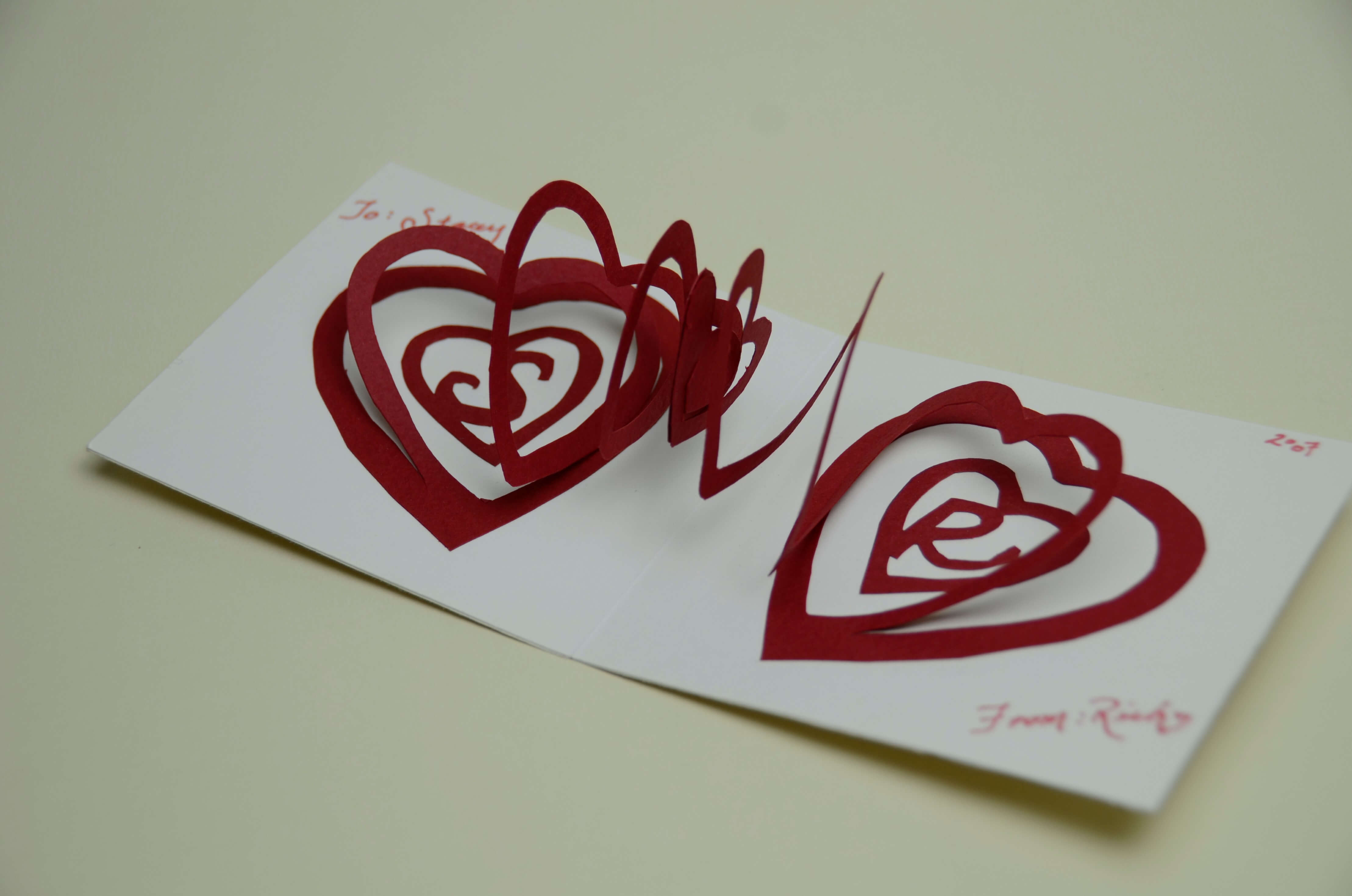 Spiral Heart Pop Up Card Template within Pop Out Heart Card Template