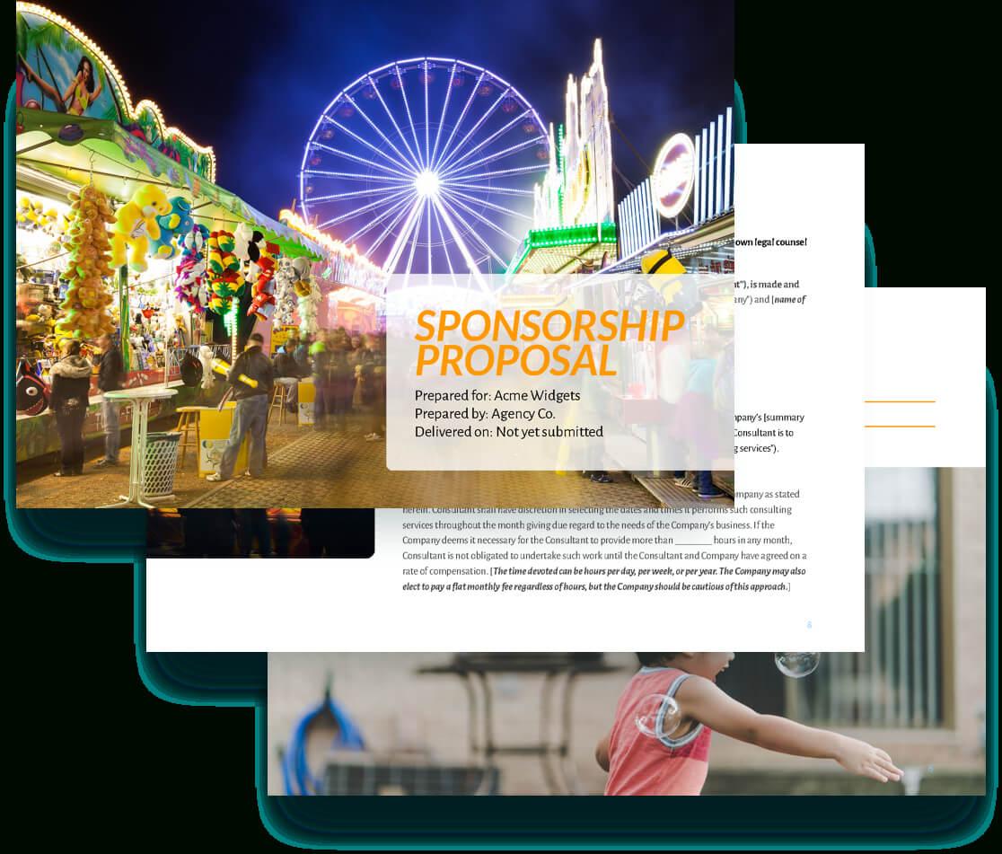 Sponsorship Proposal Template - Free Sample | Proposify in Sponsor Card Template