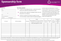 Sponsorship Sheet Template. While We 39 Re Livin In A Box We within Blank Sponsor Form Template Free