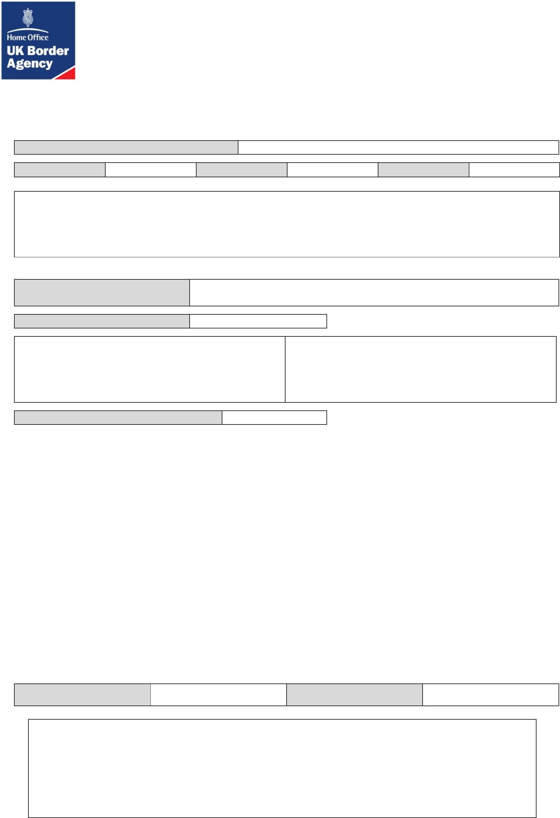 Sponsorship Undertaking Form - Uk Free Download within Blank Sponsor Form Template Free