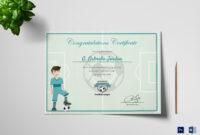 Sports Award Winning Congratulation Certificate Template for Sports Award Certificate Template Word