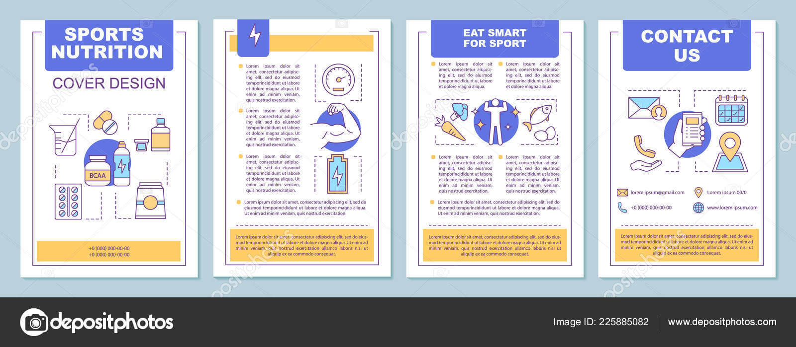 Sports Nutrition Brochure Template Layout Bcaa Proteins regarding Nutrition Brochure Template