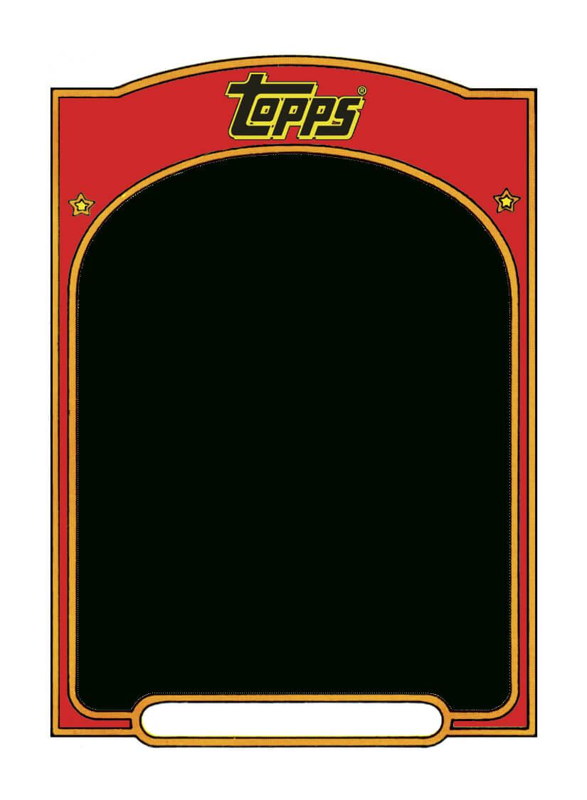 Sports Trading Card Templet.   Baseball Card Template in Baseball Card Size Template