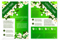 Spring Flowers Welcome Brochure Template Design throughout Welcome Brochure Template