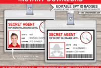 Spy Or Secret Agent Badge Template – Red regarding Spy Id Card Template