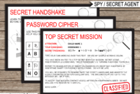 Spy Party Invitations Template for Spy Id Card Template