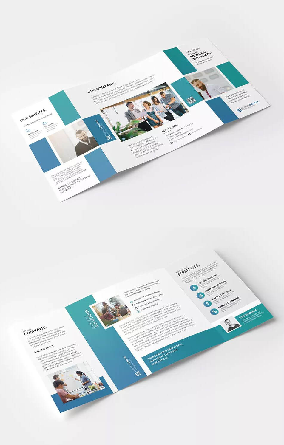 Square Gate Fold Brochure Template Psd - Cmyk Color Mode intended for Gate Fold Brochure Template Indesign