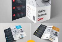 Square Tri-Fold Brochure Template Corporate Identity Template with regard to Technical Brochure Template