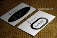Standard Black And White Business Cards Templates Free with Black And White Business Cards Templates Free