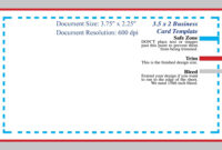 Standard Business Card Blank Template Photoshop Template intended for Business Card Template Size Photoshop