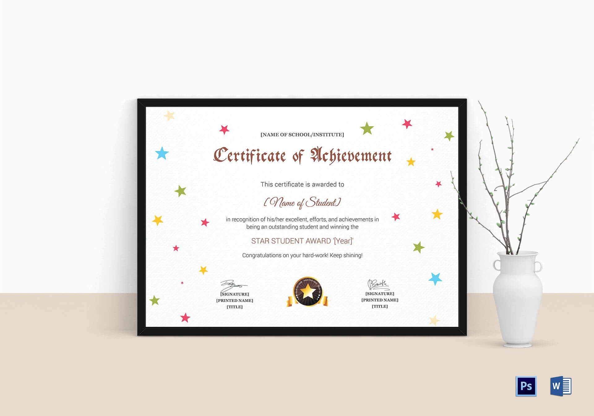 Star Achievement Certificate Template Pertaining To Star Naming Certificate Template