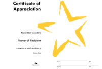 Star Award Certificate Templates Free Image intended for Star Certificate Templates Free
