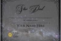 Star Naming Certificate Template – Atlantaauctionco inside Star Naming Certificate Template