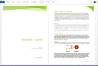 Starting Off Right: Templates And Built-In Content In The with regard to Fact Sheet Template Microsoft Word
