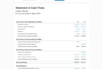 Statement Of Cash Flows For Business | Xero Blog Intended For Cash Position Report Template
