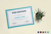 Stock Certificate Template with regard to Stock Certificate Template Word