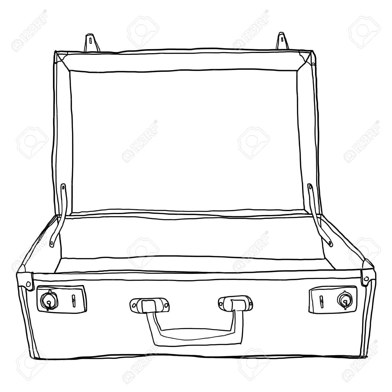 Stock Illustration With Blank Suitcase Template