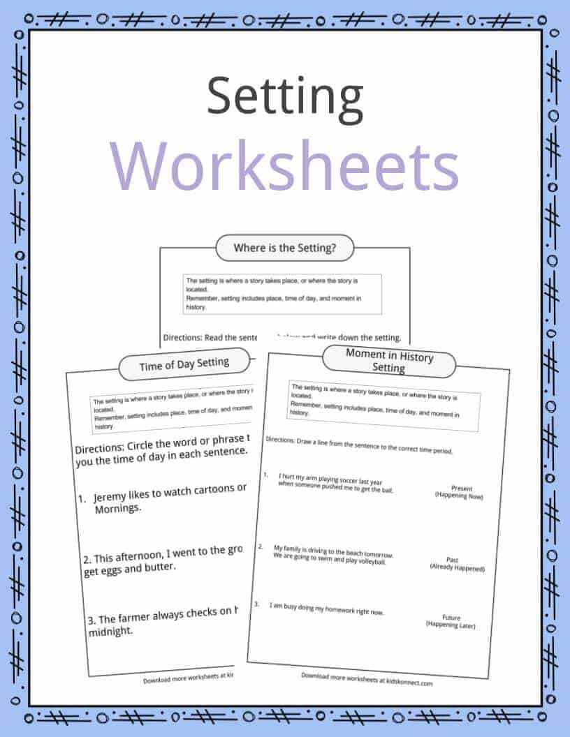 Story Setting Examples, Definition & Worksheets For Kids inside Country Report Template Middle School