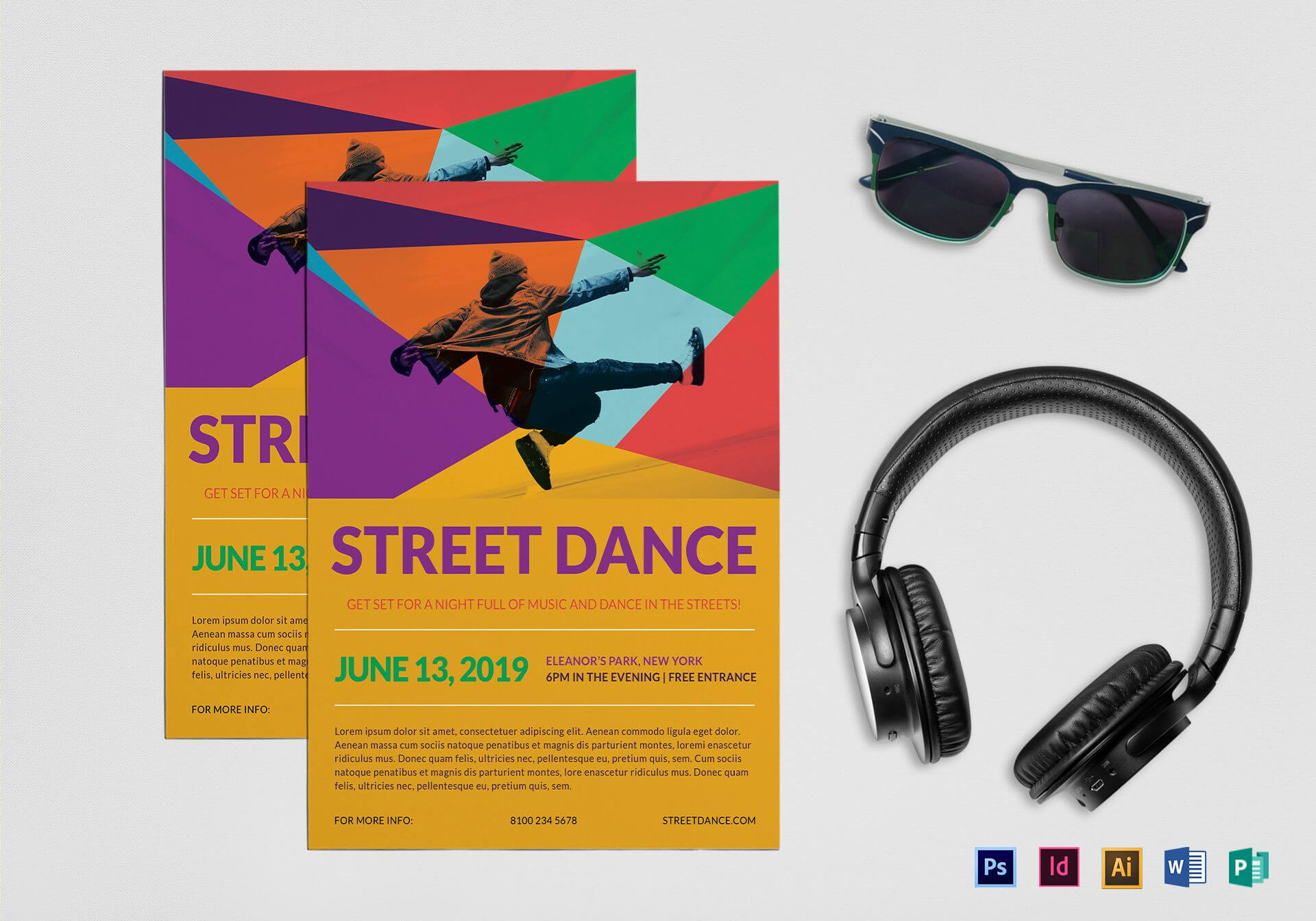 Street Dance Flyer Template In Dance Flyer Template Word