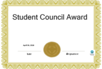Student Council Award | Templates At Allbusinesstemplates for Free Student Certificate Templates