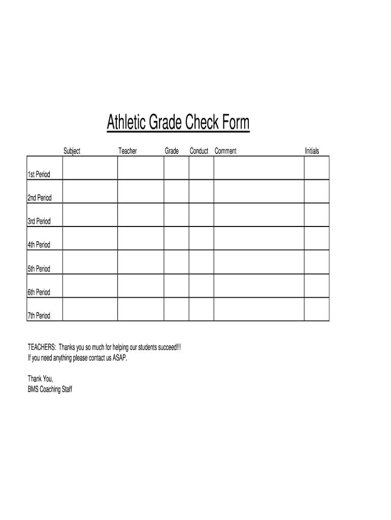 Student Grade Check Form Printable - Fill Online, Printable pertaining to Student Grade Report Template