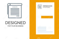 Student, Notes, Books, Student Notes Grey Logo Design And throughout Student Business Card Template