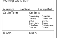 Students' Stuff | Preschool Daily Report, Preschool inside Preschool Weekly Report Template
