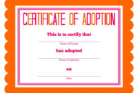 Stuffed Animal Adoption Party Detail-Oriented Diva!   Party inside Toy Adoption Certificate Template