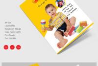 Stunning Kindergarten School A4 Bifold Brochure Download inside Ai Brochure Templates Free Download