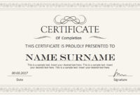 Stylish Certificate Powerpoint Templates within Award Certificate Design Template
