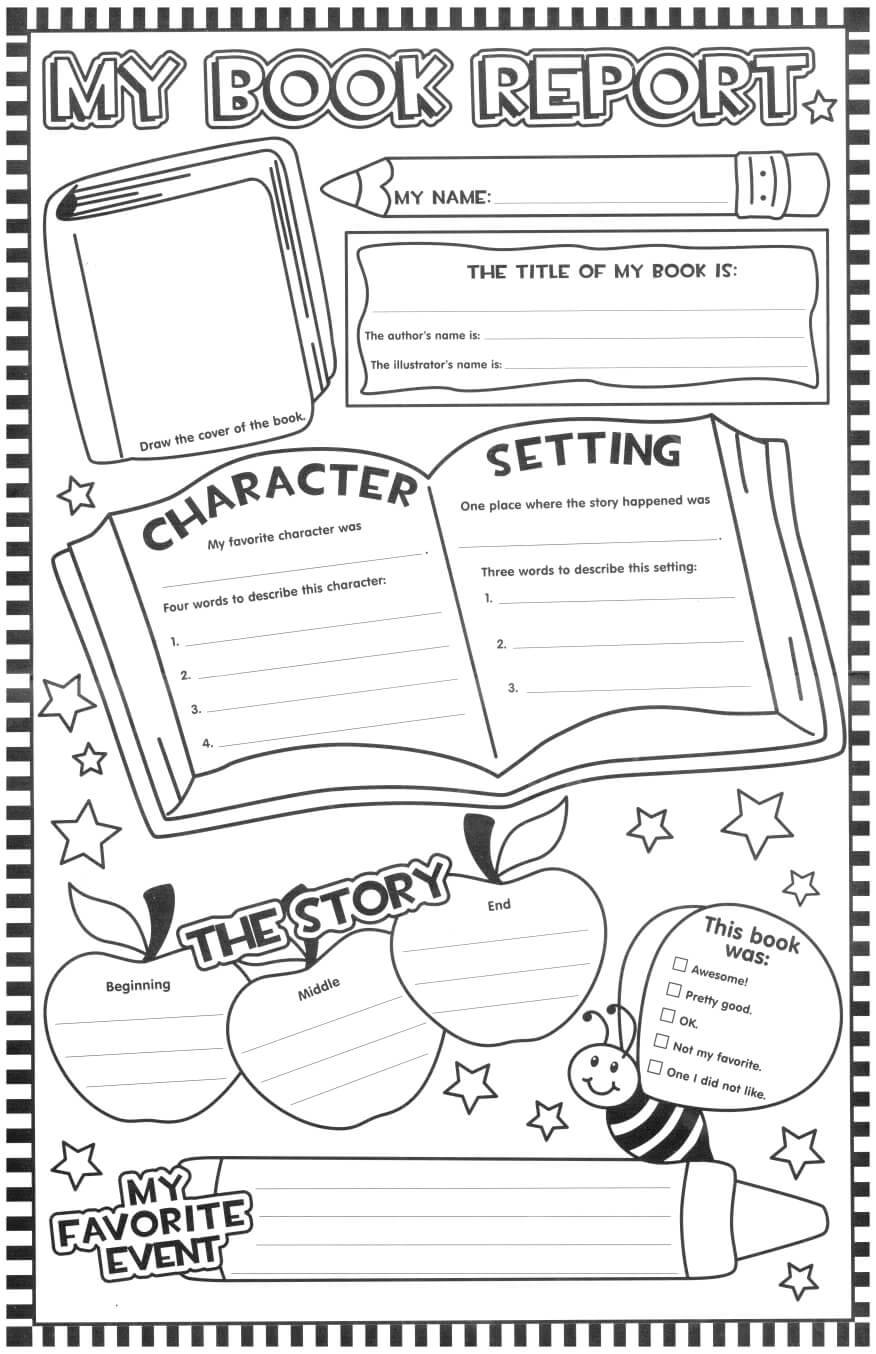 Such A Fun Looking Page For The Kids To Fill Out After With Book Report Template Grade 1