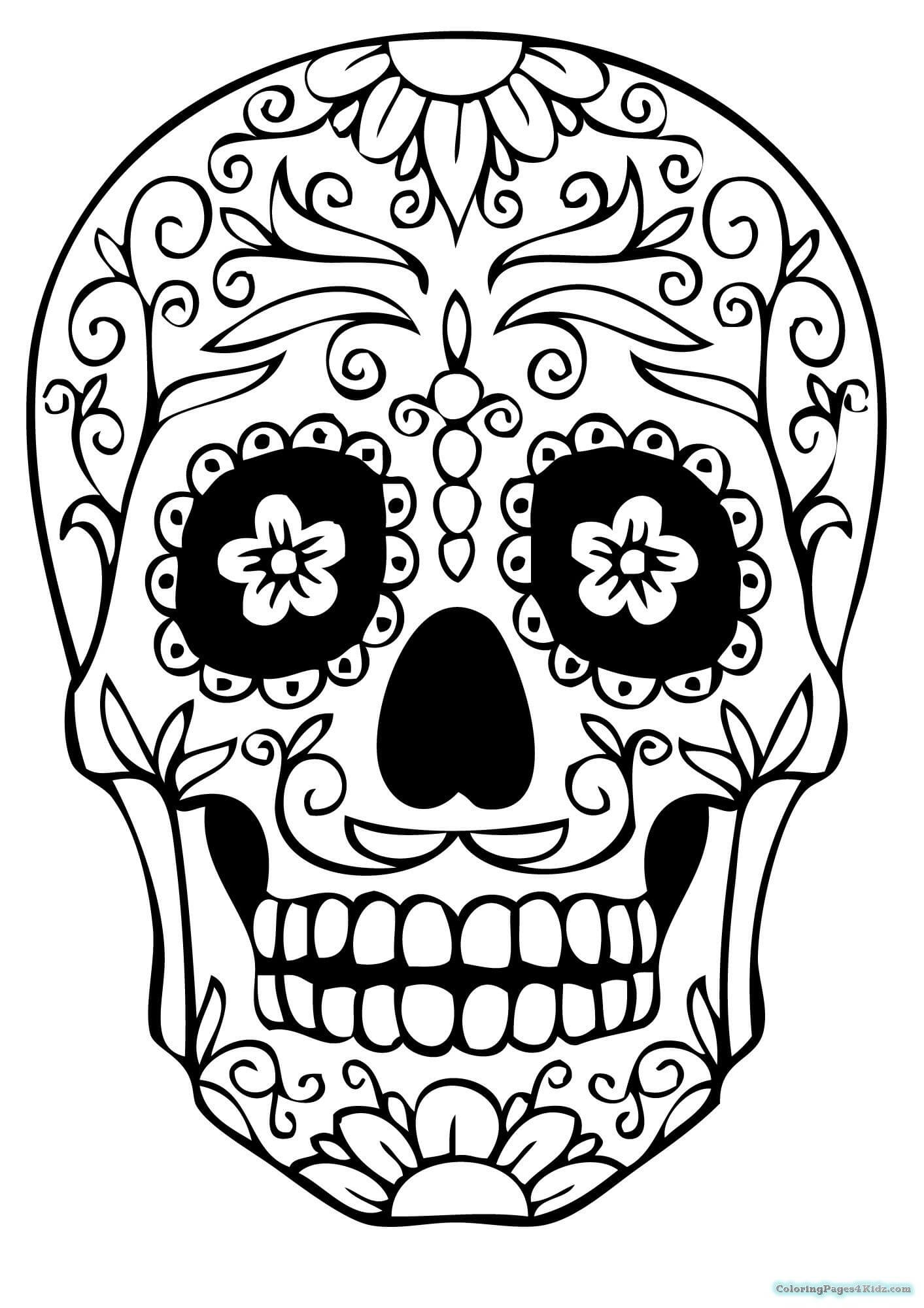 Sugar Skull Drawing Template At Paintingvalley | Explore Pertaining To Blank Sugar Skull Template