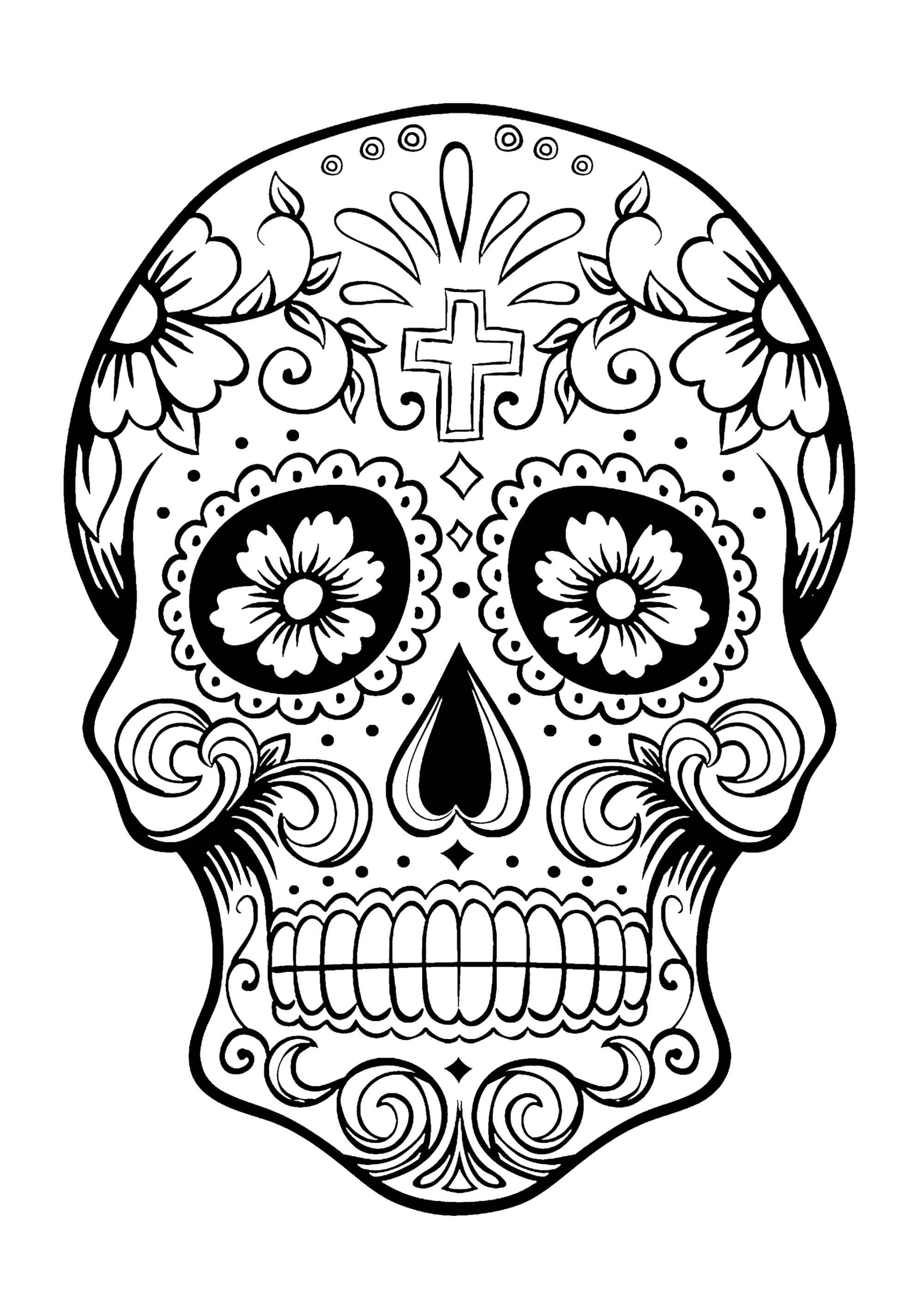 Sugar Skull Drawing Template | Free Download Best Sugar Regarding Blank Sugar Skull Template