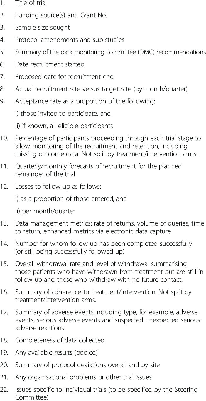 Suggested Template For Trial Steering Committee (Tsc within Trial Report Template