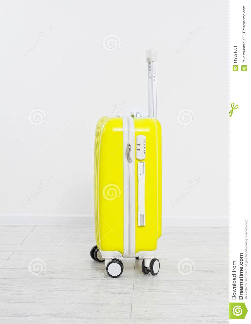 Suitcase Isolated On White Background .summer Holidays for Blank Suitcase Template