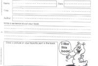 Summer Book Report – Mrs. Kozlowski's First Grade within First Grade Book Report Template