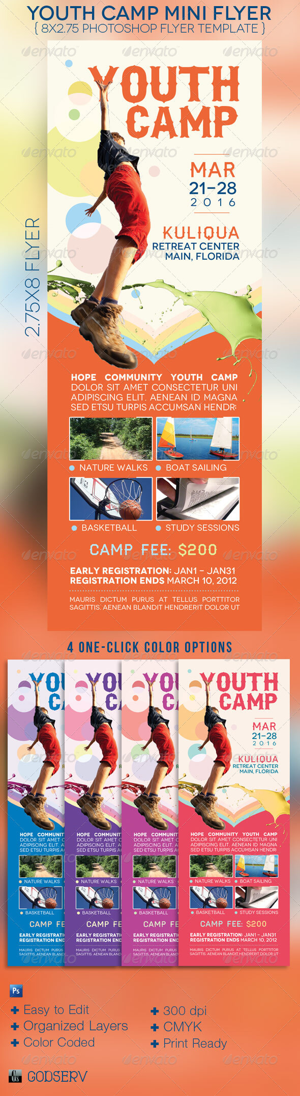 Summer Church Flyer Templates From Graphicriver throughout Ngo Brochure Templates